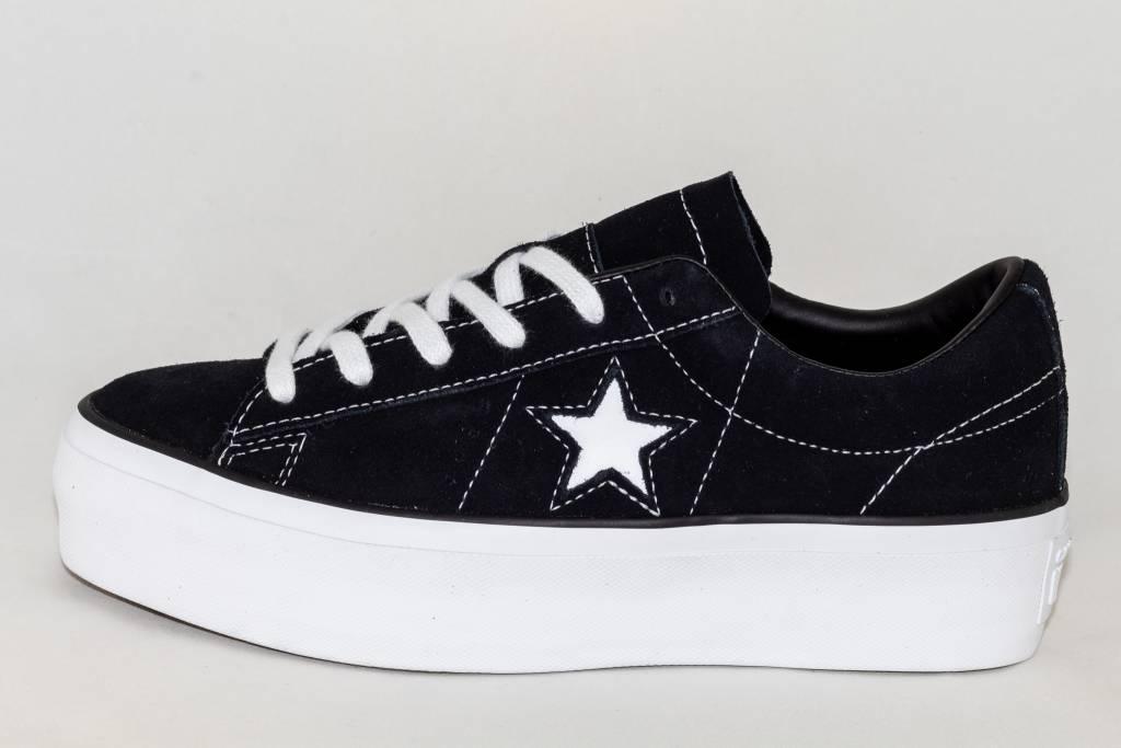 Converse CONVERSE ONE STAR PLATFORM OX Black  White ... 8bdae0c26