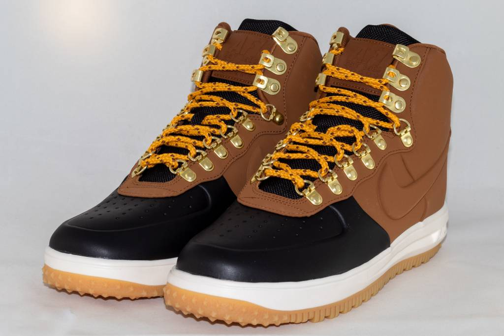 NIKE LUNAR FORCE 1 DUCKBOOT '18 Black/ Lt British Tan- Phantom