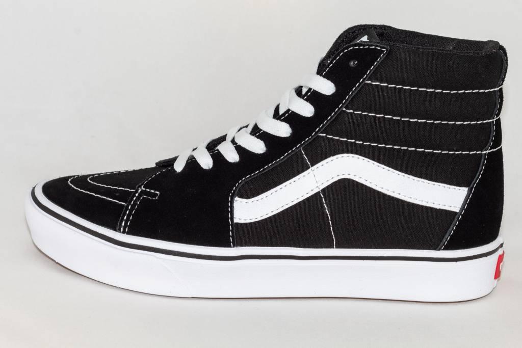 VANS SK8-HI COMFYCUSH Black White - Shoe Class 066a6dd30