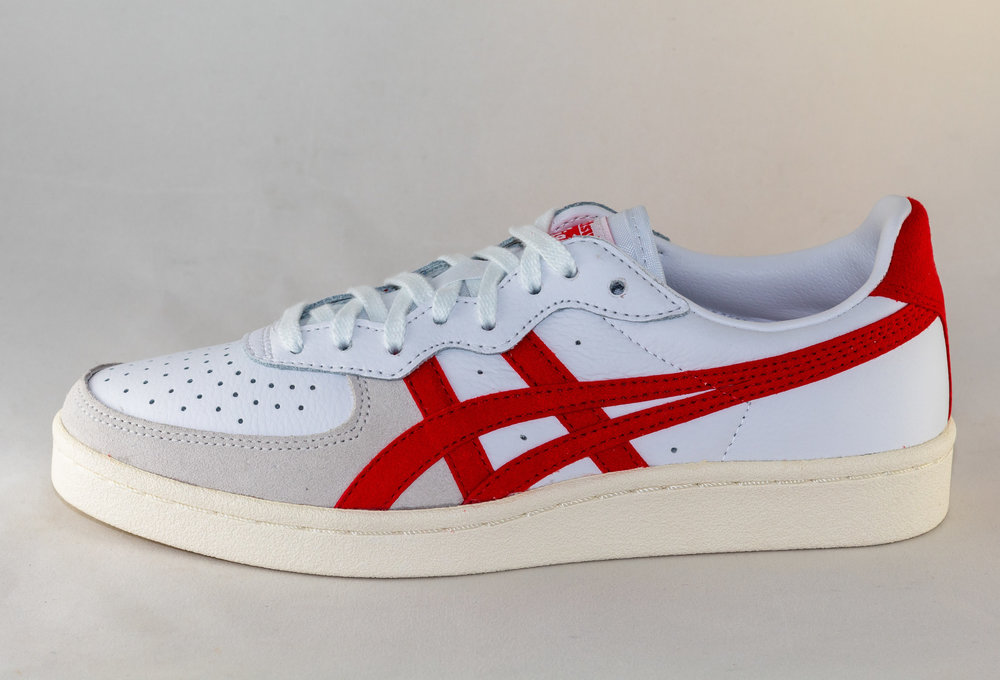 ASICS GSM White/Classic Red