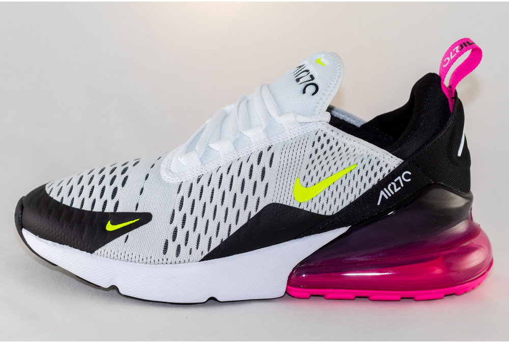 Nike NIKE AIR MAX 270 (GS) White/ Volt-Black-Laser-Fuchsia