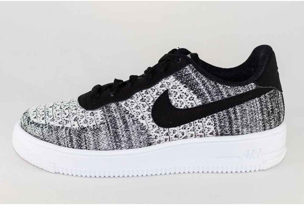 Nike J NIKE AIR FORCE 1 FLYKNI 2.0 (gs) Black/ Pure Platinium- White