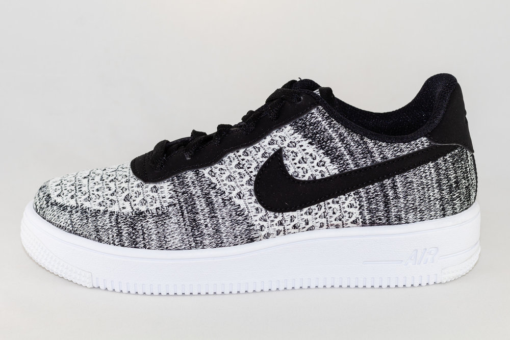 NIKE NIKE AIR FORCE 1 FLYKNIT 2.0 (GS) Black/ Pure Platinium- White