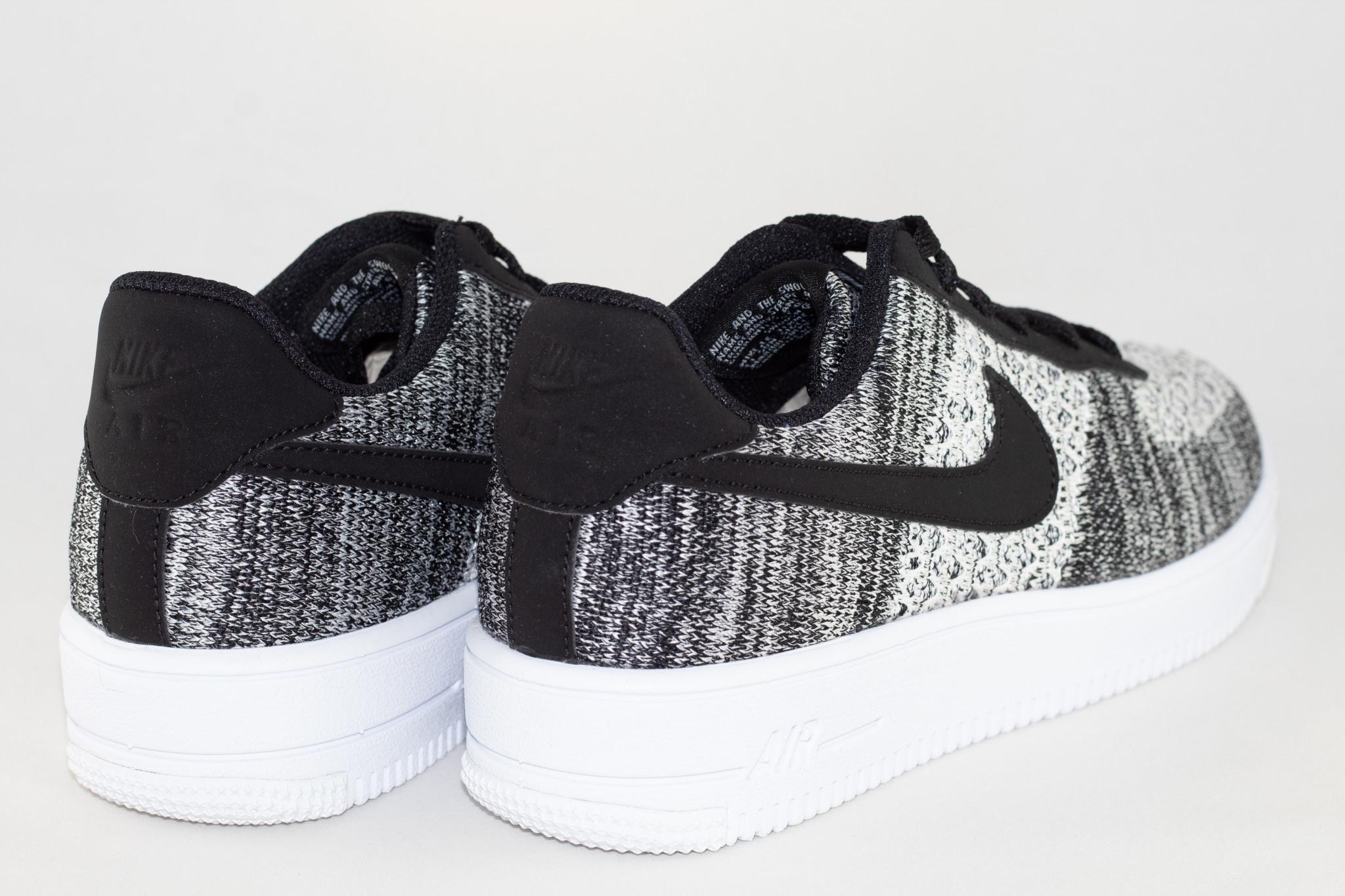 Nike J NIKE AIR FORCE 1 FLYKNIT 2.0 (gs) Black/ Pure Platinium- White