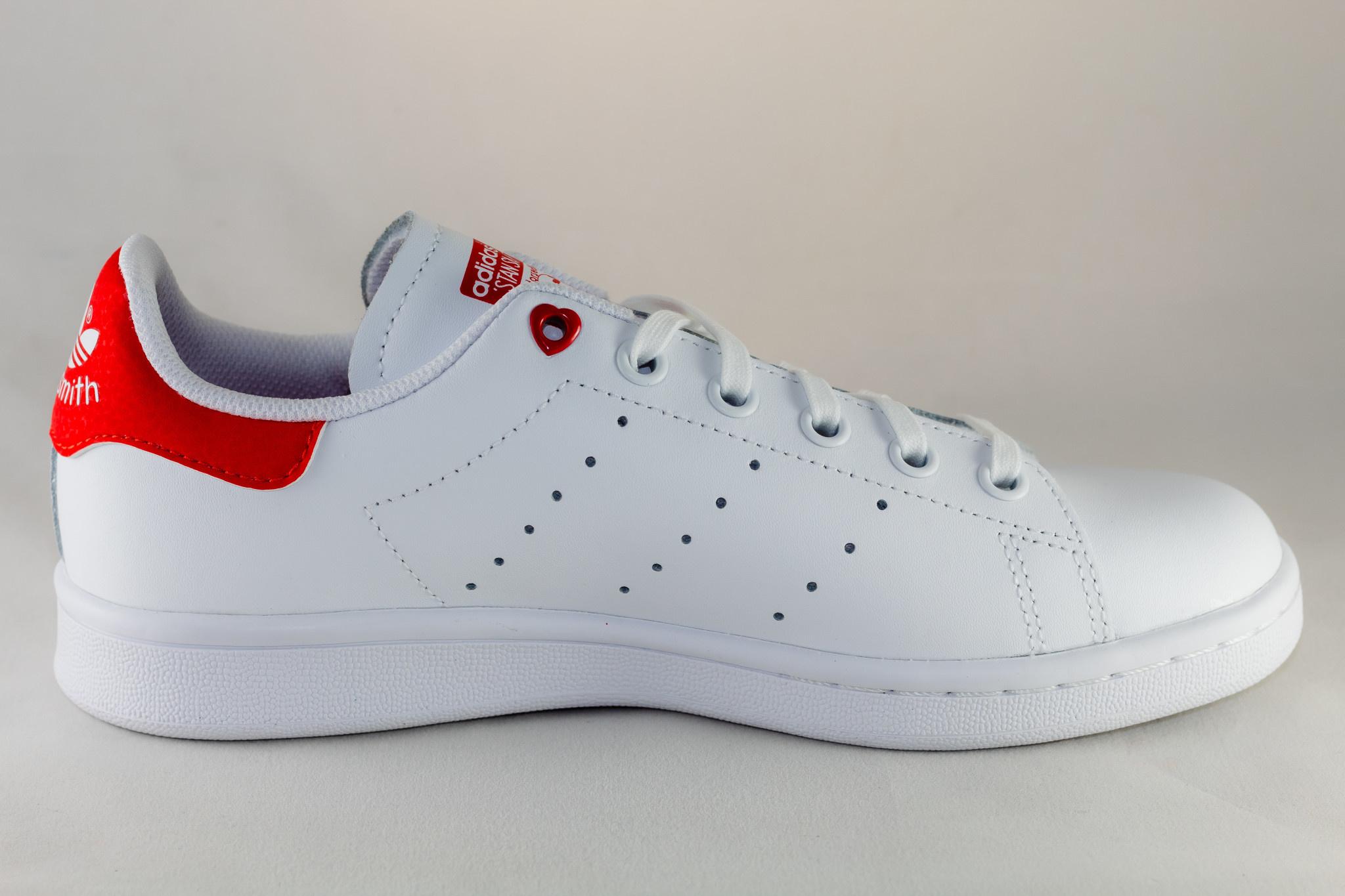 Adidas J ADIDAS STAN SMITH Ftwwht/ Ftwwht/ Actred