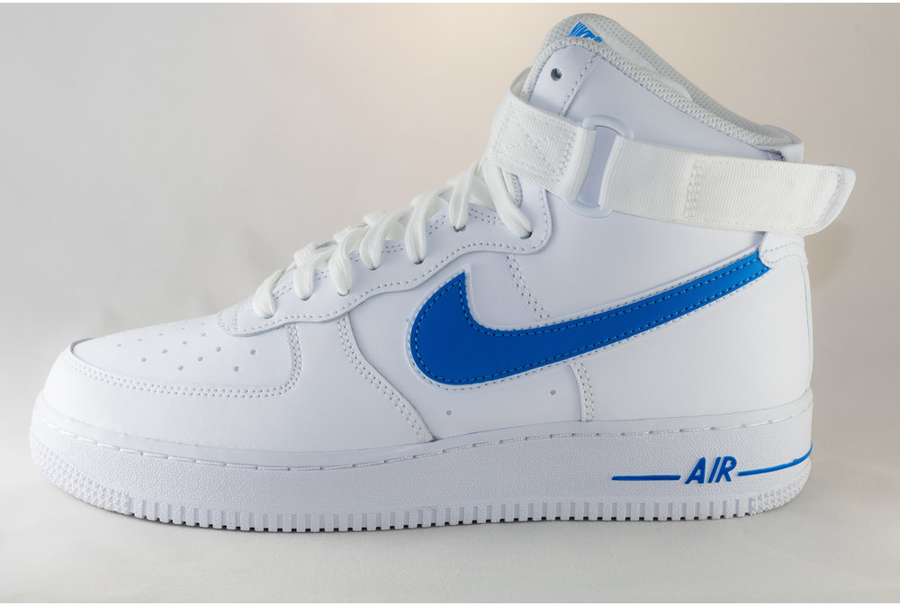 Nike NIKE AIR FORCE 1 HIGH '07 3 White/ White/ Photo Blue