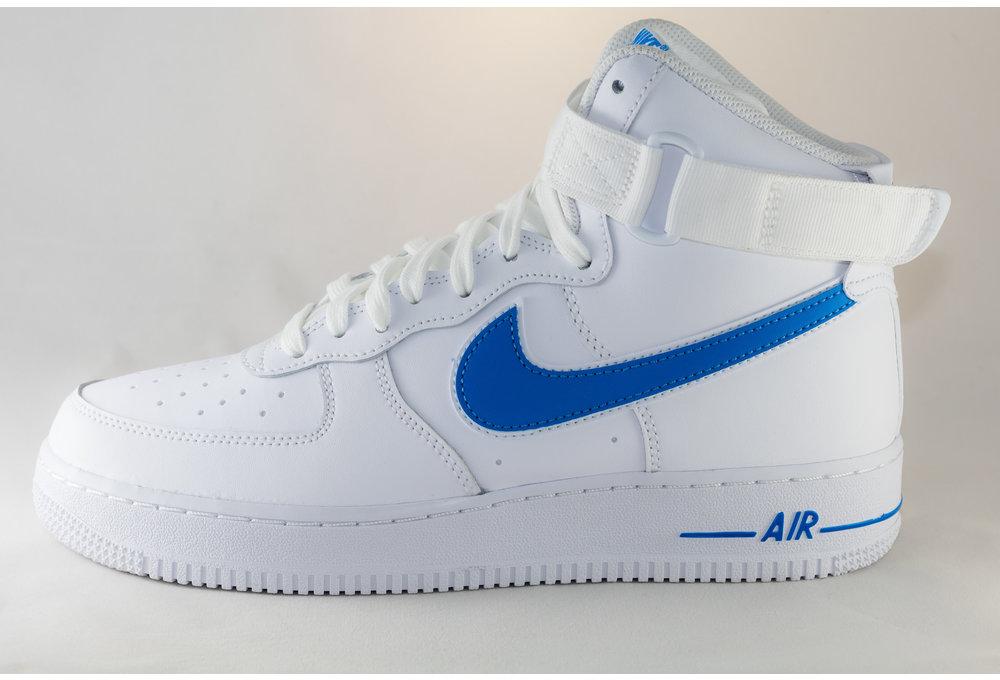 Nike AIR FORCE 1HIGH '07 3 White/ White/ Photo Blue