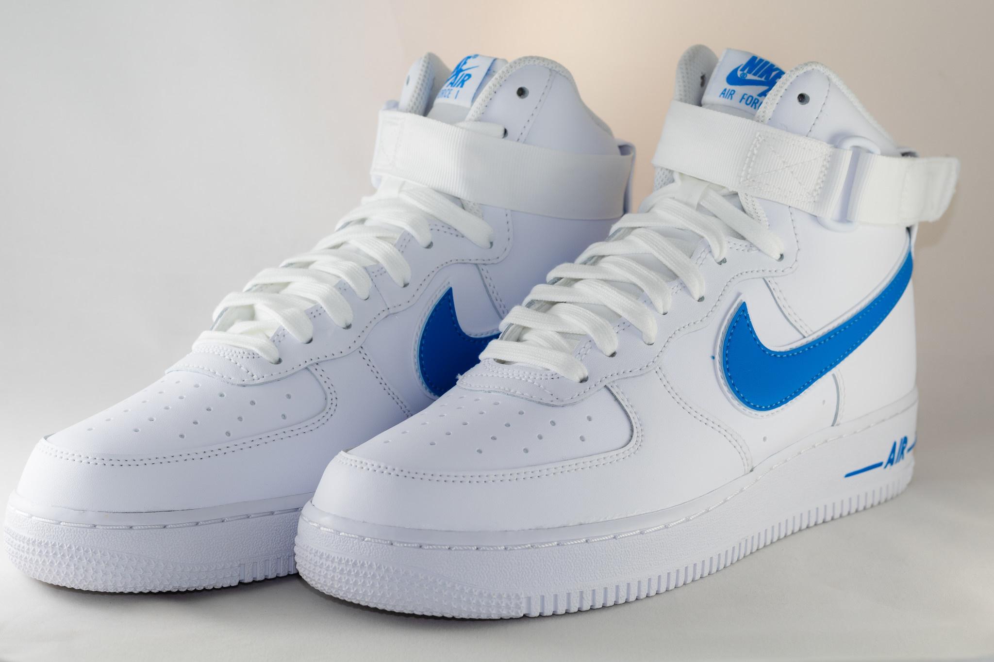 Nike M NIKE AIR FORCE 1HIGH '07 3 White/ White/ Photo Blue