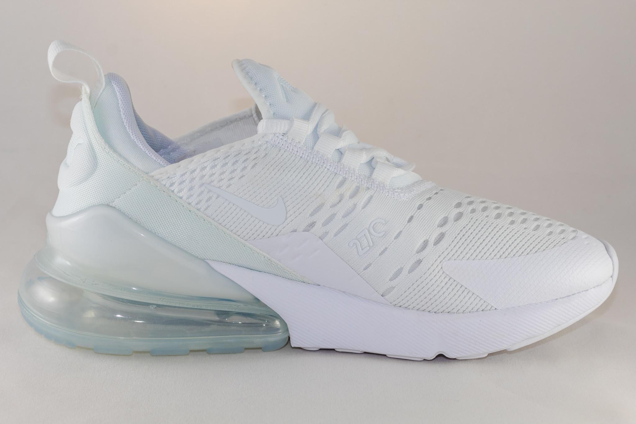 Nike J NIKE AIR MAX 270 (gs) White/ White- Metallic Silver