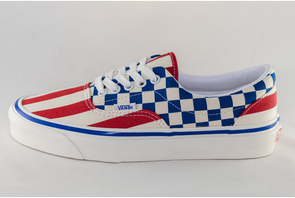 Vans VANS ERA 95 DX (ANAHEIM FACTORY)  Acty Og Red Stipes/ Og Blue Check