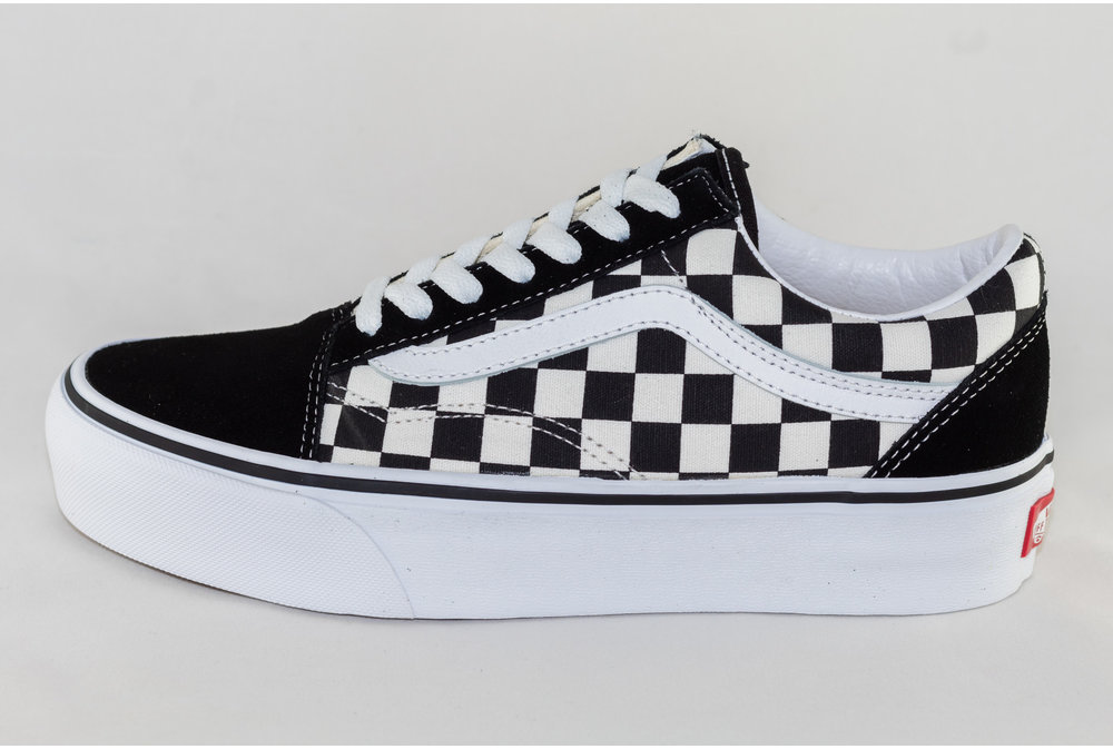 Vans VANS OLD SKOOL PLATFORM (CHECKERBOARD) Black/ True White