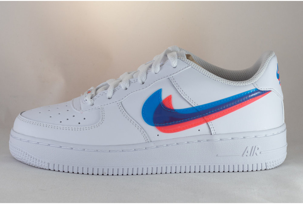 Nike NIKE AIR FORCE 1 LV8 KSA (GS) White/ Blue Hero- Bright Crimson