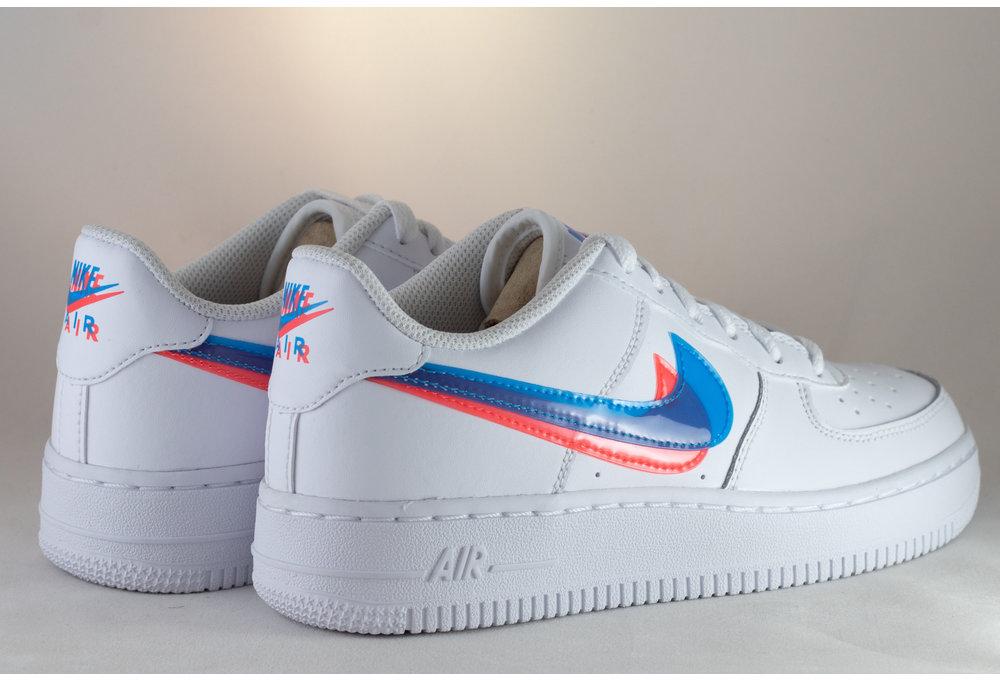 Nike AIR FORCE 1 LV8 KSA (GS) White/ Blue Hero- Bright Crimson