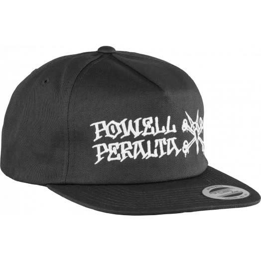 Powell CAPS M SNAPBACK PP RAT BONES Black