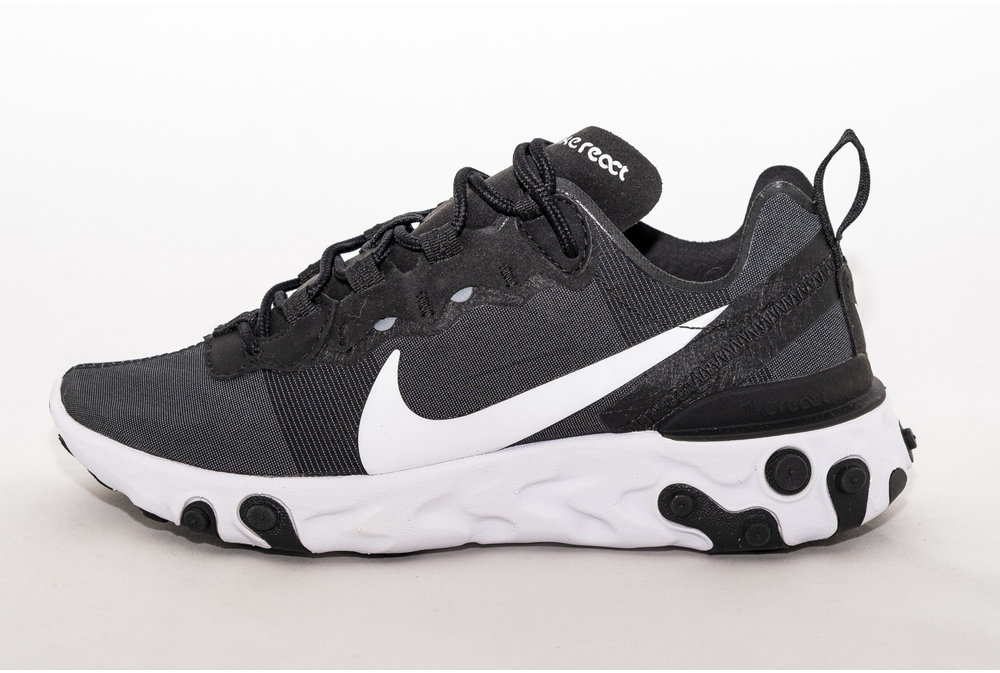 Nike NIKE REACT ELEMENT 55  Black/ White