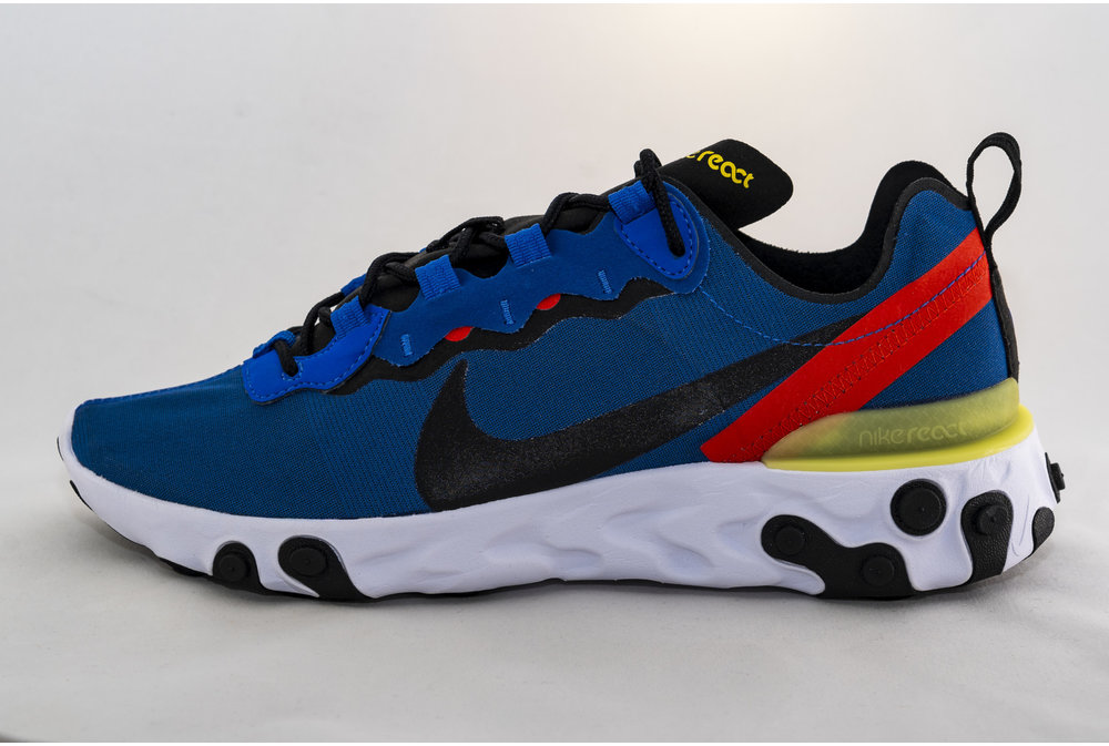 Nike NIKE REACT ELEMENT 55  Game Royal/ Black- White
