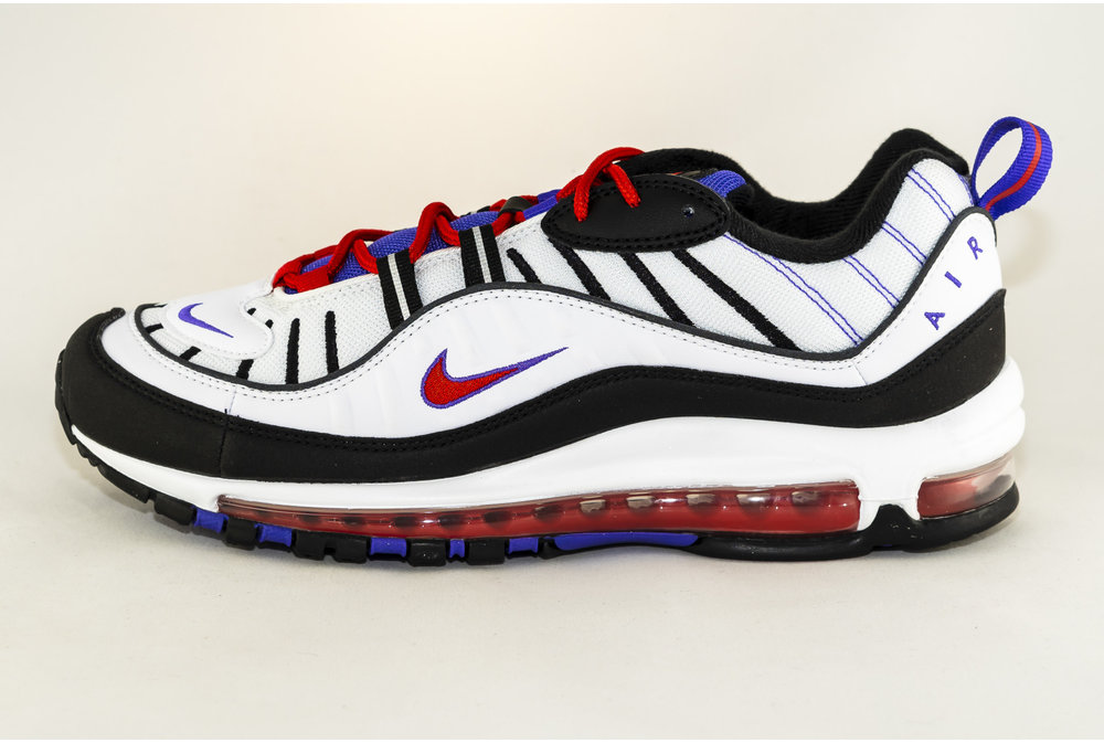 Nike NIKE AIR MAX 98 White/ Black- Psychic Purple