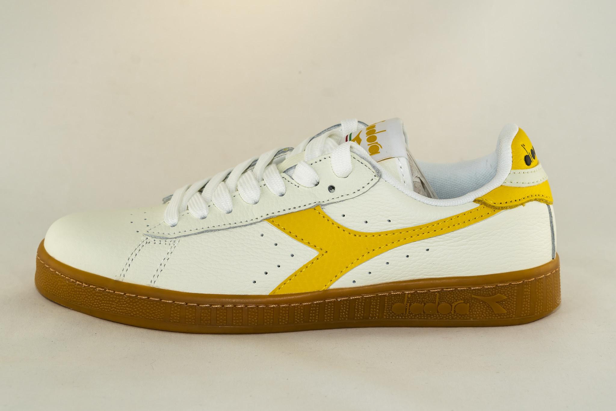 Diadora GAME L LOW White/ Yellow Freesia