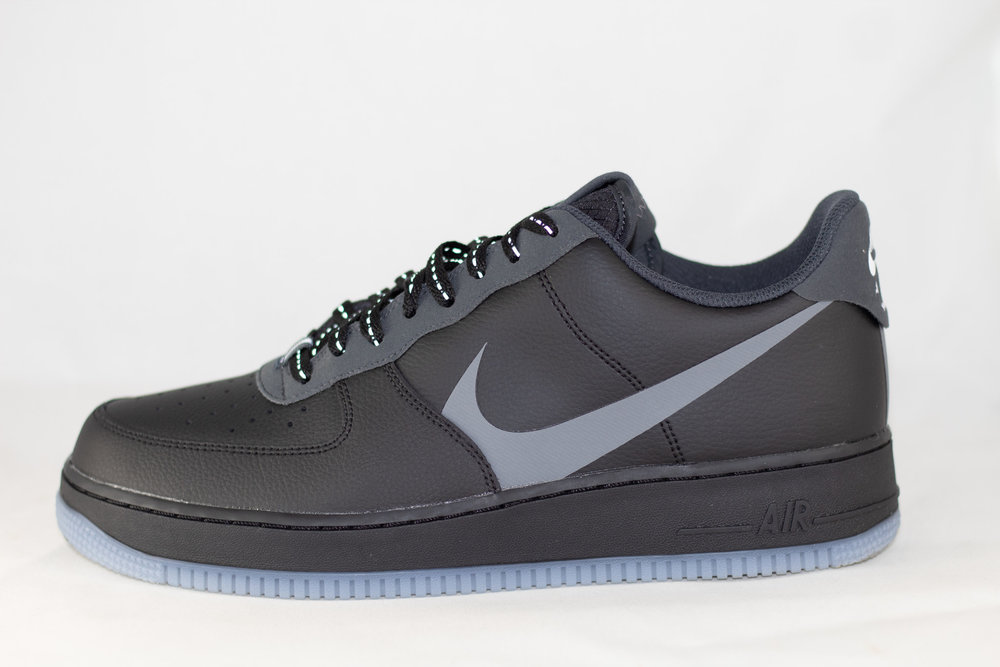 NIKE NIKE AIR FORCE 1 '07 LV8 3 Black/ Silver Lilac/ Anthracite