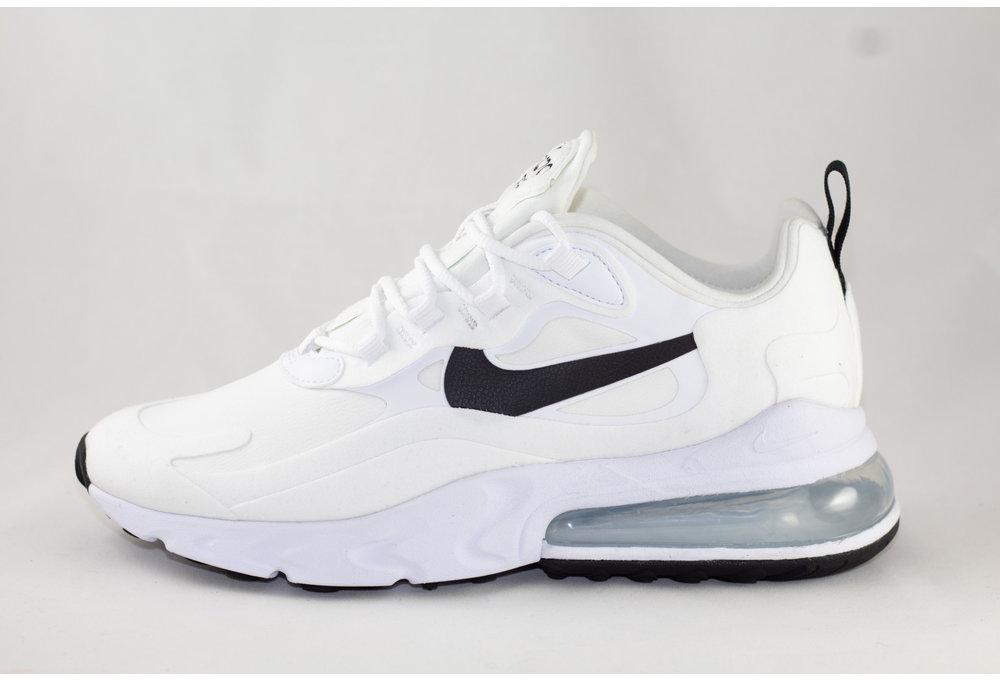 Nike 270 REACT White/ Black- Metallic Silver