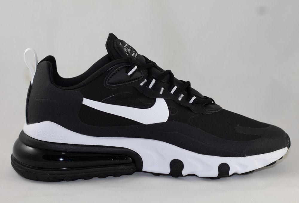 Nike AIR MAX 270 REACT Black/ White- Black