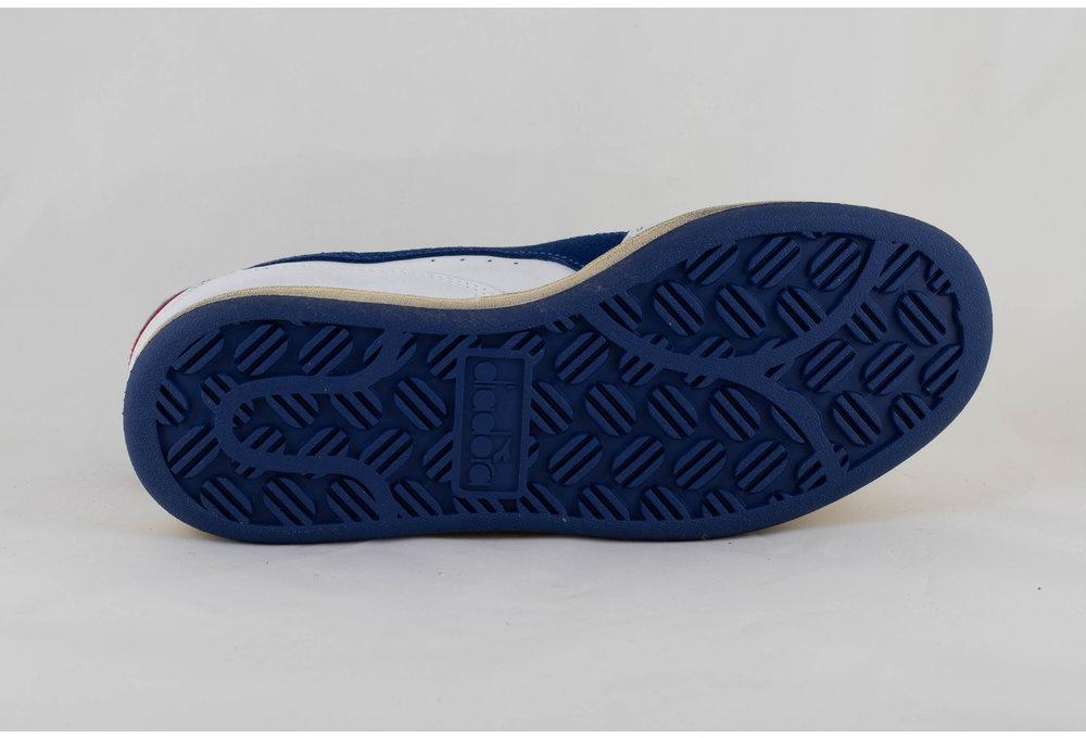 Diadora MI BASKET LOW USED White/ Bijou Blue