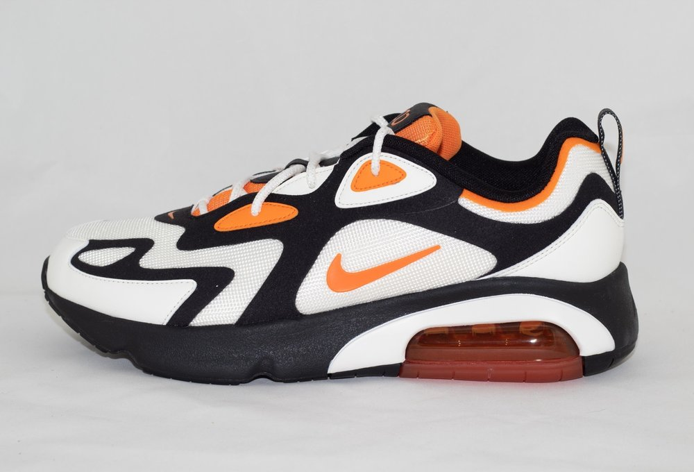 air max 200 orange and black