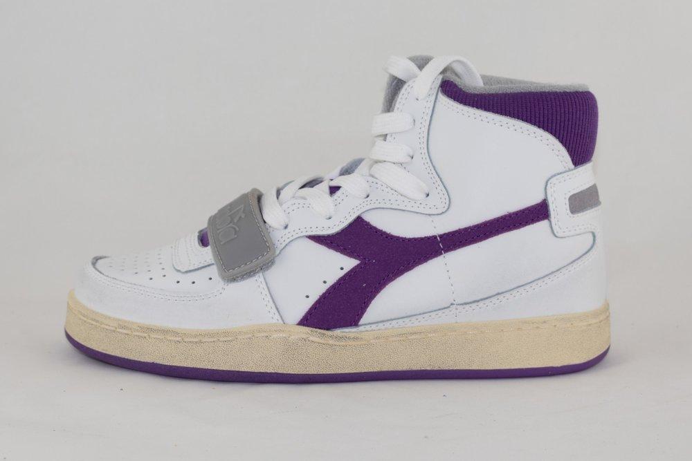 DIADORA DIADORA MI BASKET USED White/ Imperial Lilac