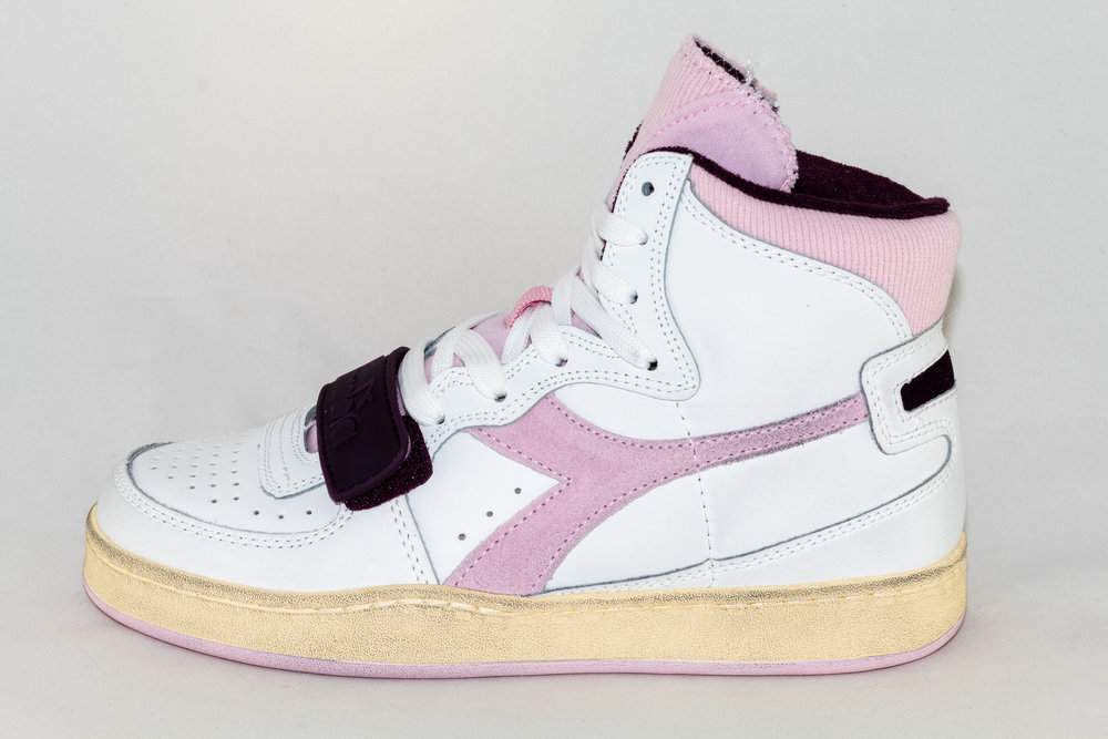 DIADORA DIADORA MI BASKET USED white/ craddle pink
