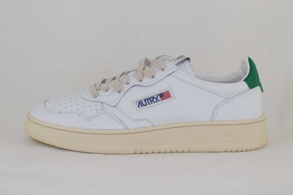 AUTRY AUTRY LOW MAN ALL LEATHER White/ Green