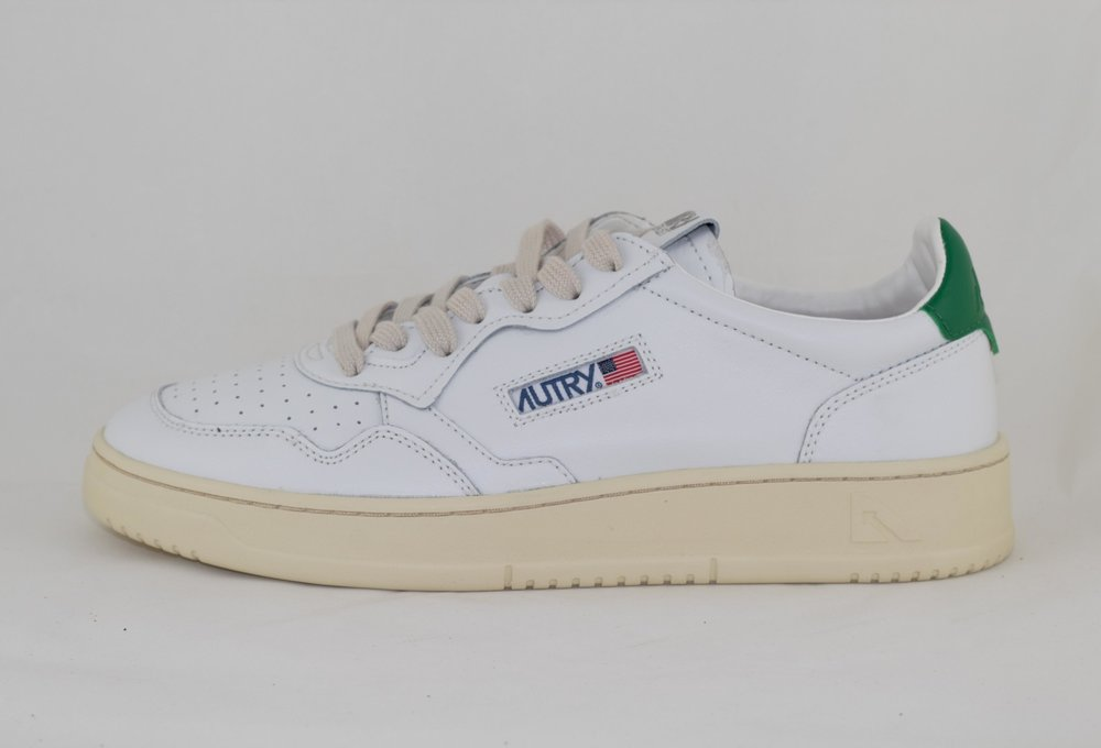 AUTRY LOW MAN ALL LEATHER White/ Green