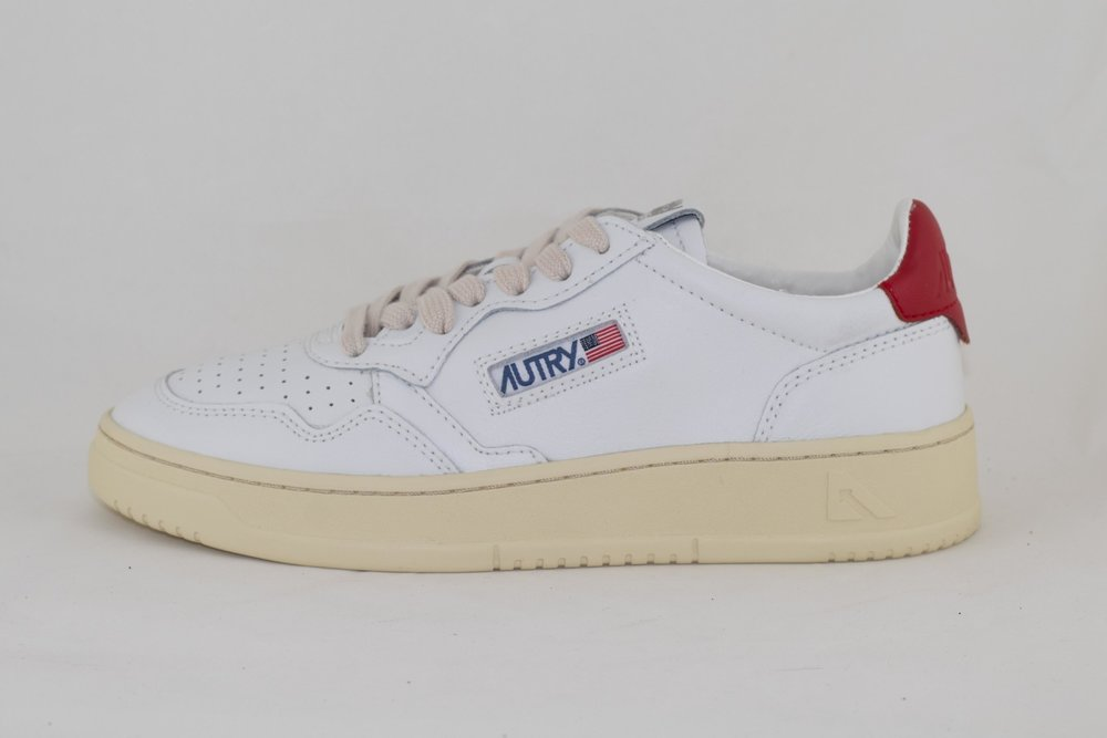 AUTRY AUTRY LOW MAN ALL LEATHER White/ Red