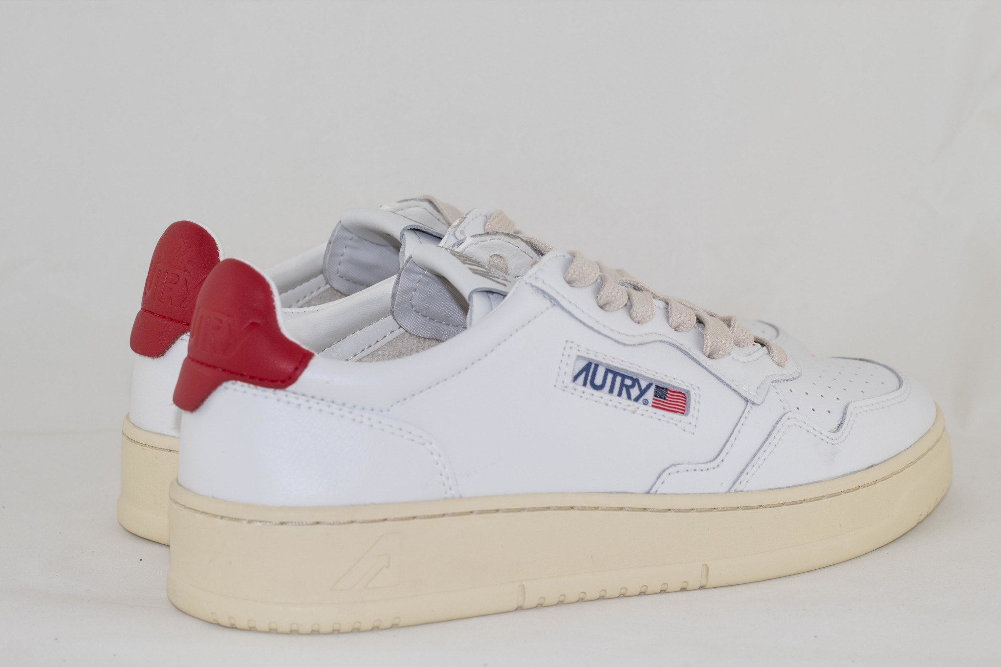 Autry LOW MAN ALL LEAT White/ Red