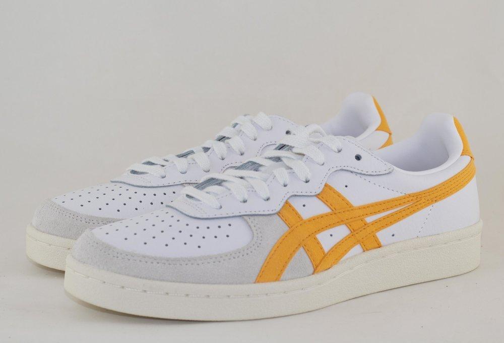 ASICS GSM White/ Tiger Yellow