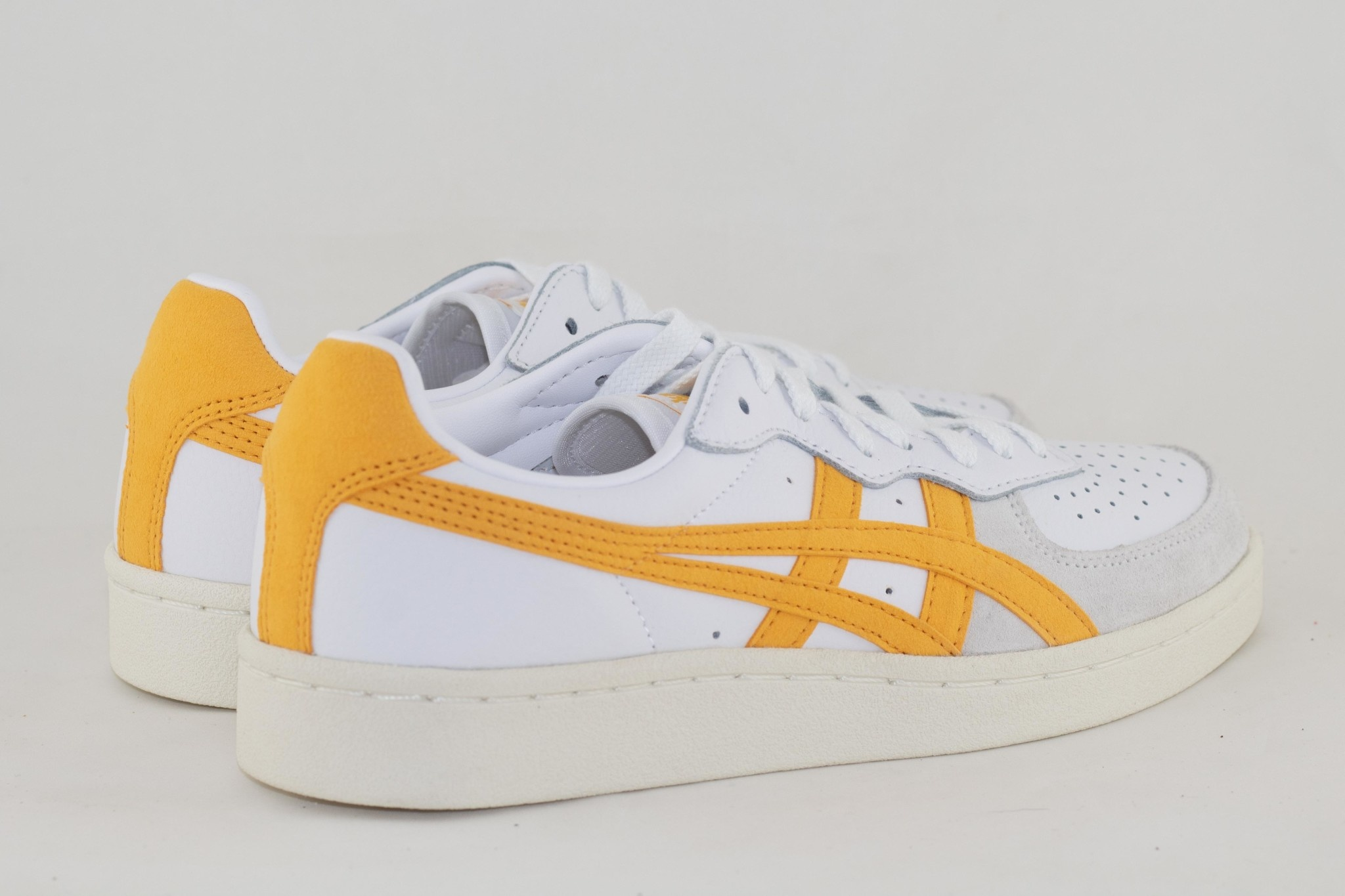 ASICS GSM White/ Tiger Yellow