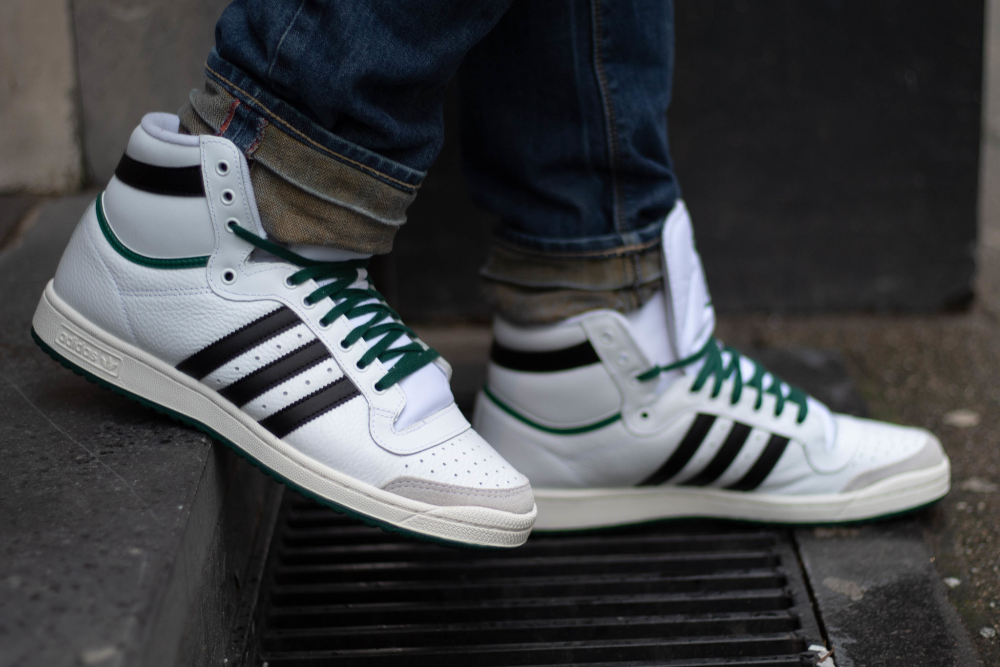 ADIDAS TOP TEN Ftwwht/ Cblack/ Green
