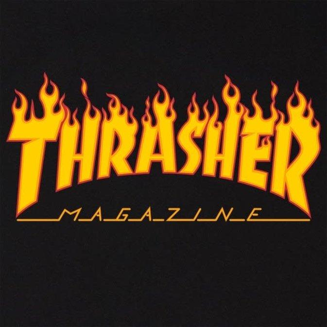 THRASHER THRASHER  T-SHIRT FLAME Black