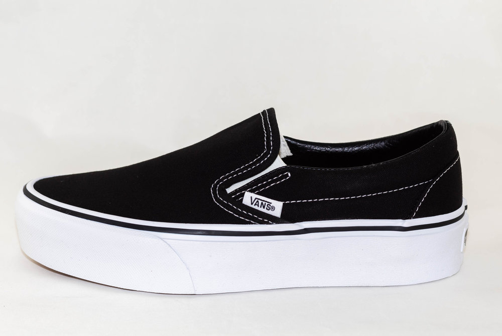 VANS VANS SLIP-ON PLATFORM Black/White