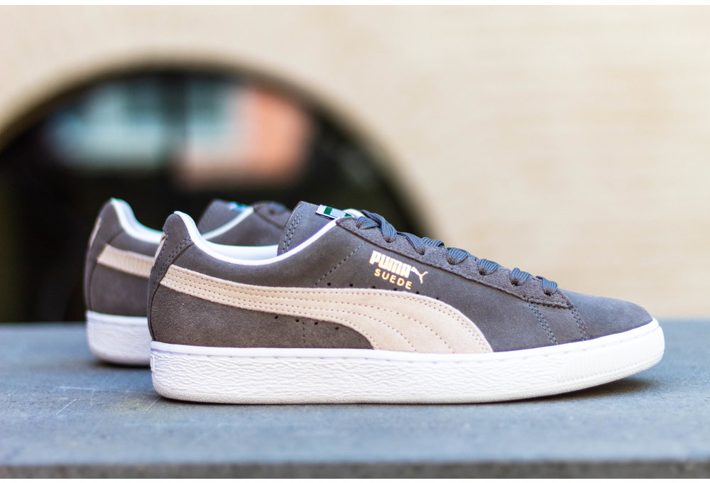 PUMA SUEDE CLASSIC + Steeple Gray / White