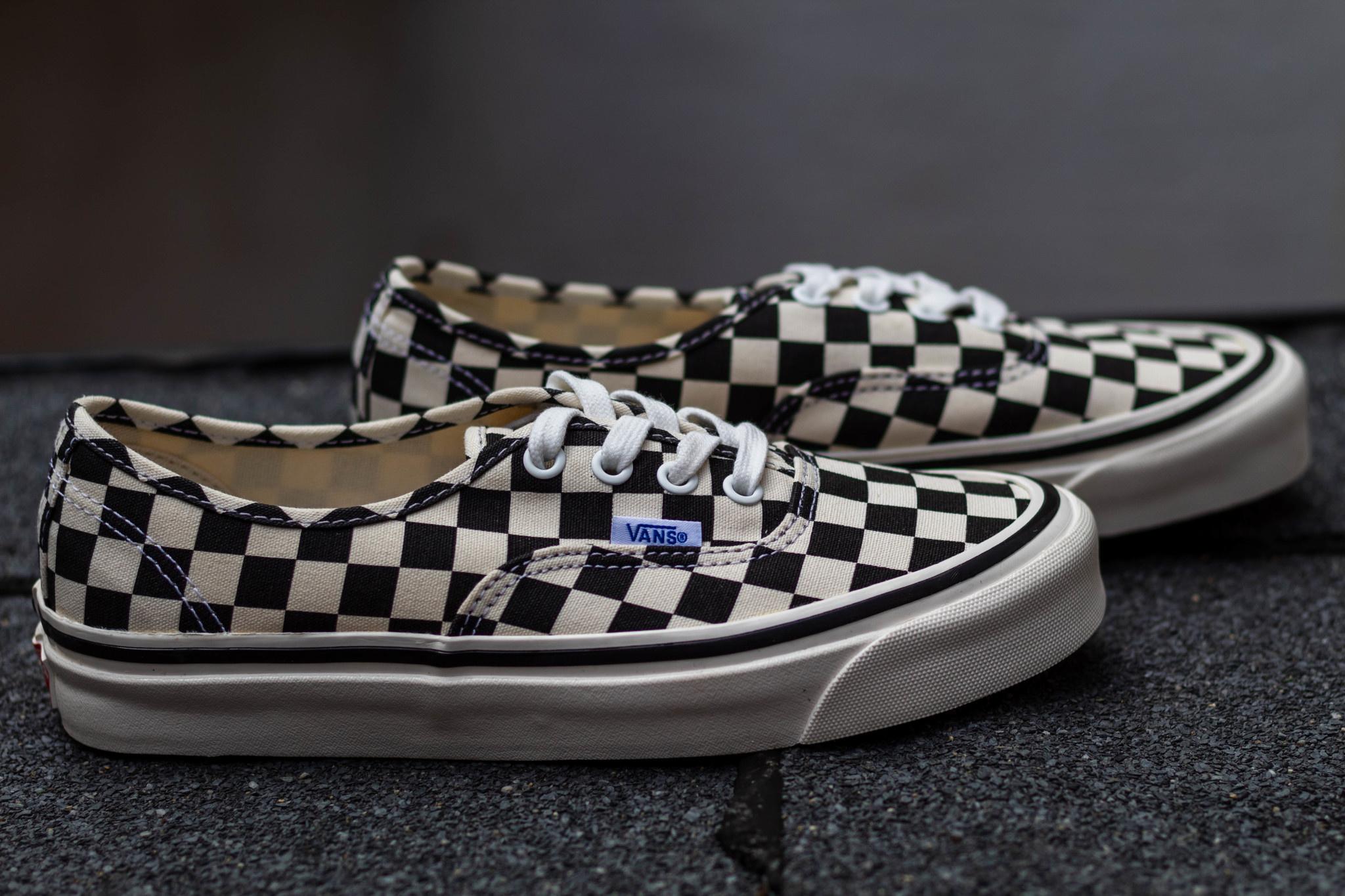 VANS AUHTENTIC 44 DX (Anaheim factory) Black/Checkerboard