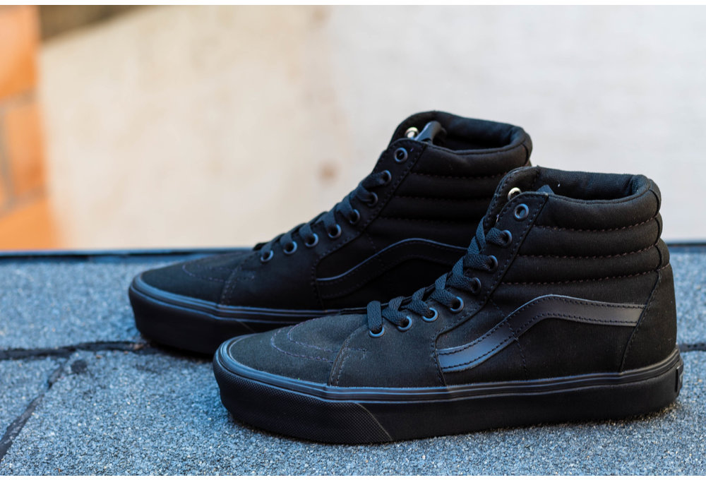 VANS SK8-HI LITE (CANVAS) Black/ Black