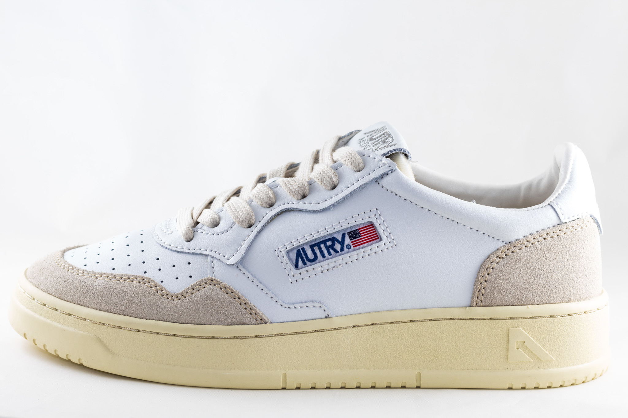 AUTRY AUTRY LOW WOMAN LEAT/ SUEDE White/ White