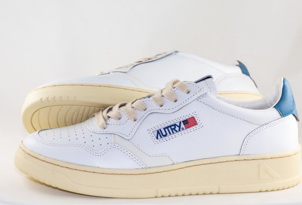 AUTRY 01 LOW MAN ALL LEATHER White/ Navy
