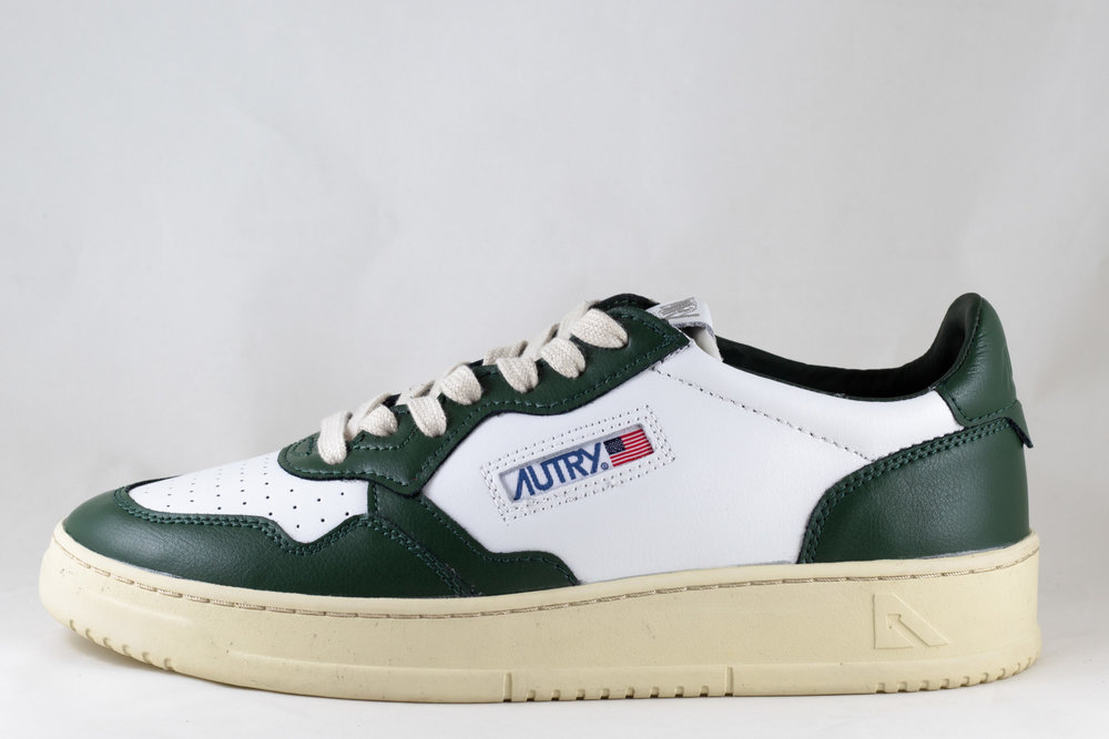 AUTRY AUTRY LN 21 LOW MAN LEATHER White/ Dark Green