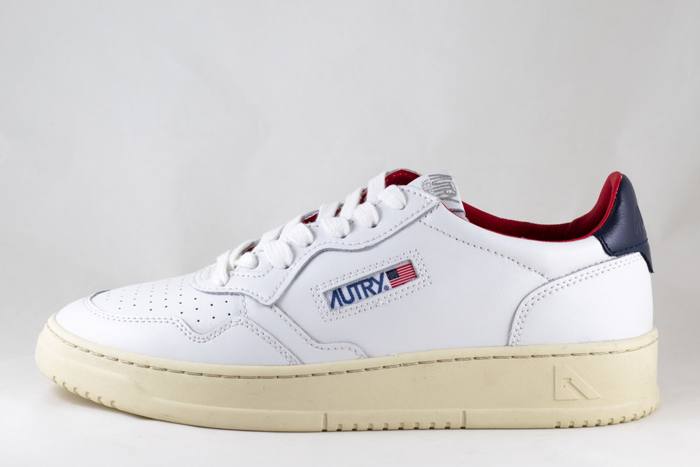 AUTRY AUTRY LN18 LOW MAN LEATHER White/ Dark Blue