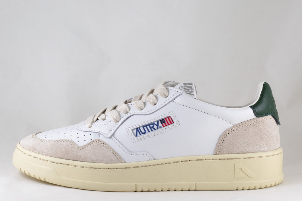 AUTRY AUTRY LS36 LOW MAN LEATHER/ SUEDE White/ Dark Green