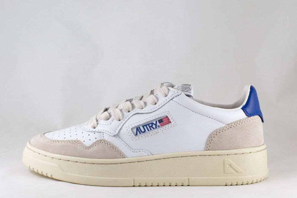 AUTRY AUTRY LS34 LOW MAN LEATHER/ SUEDE White/ Navy