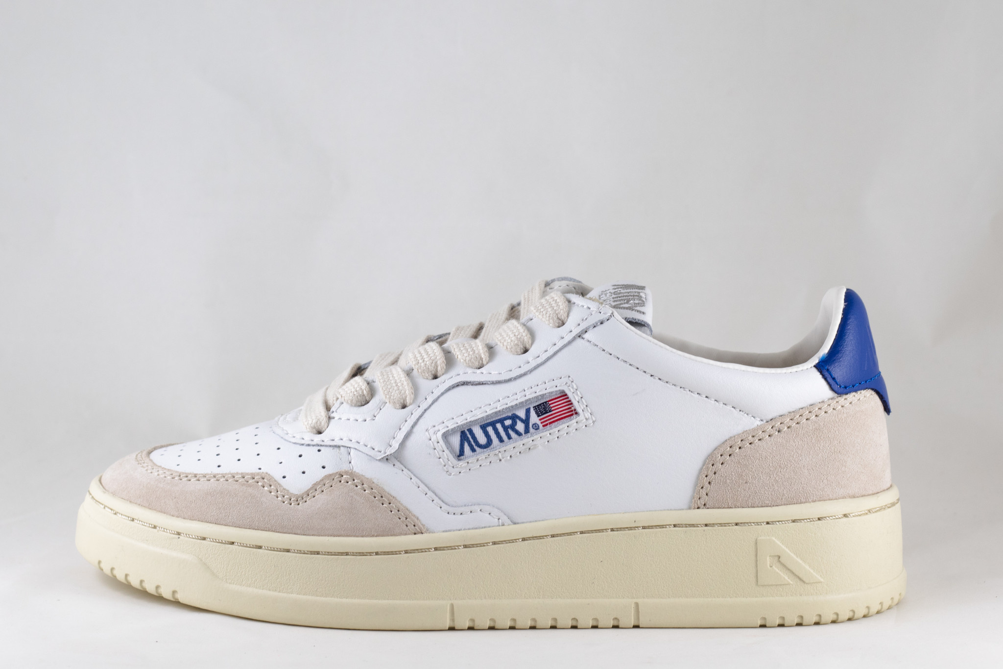 AUTRY  LS34 LOW MAN LEATHER/SUEDE White/ Navy