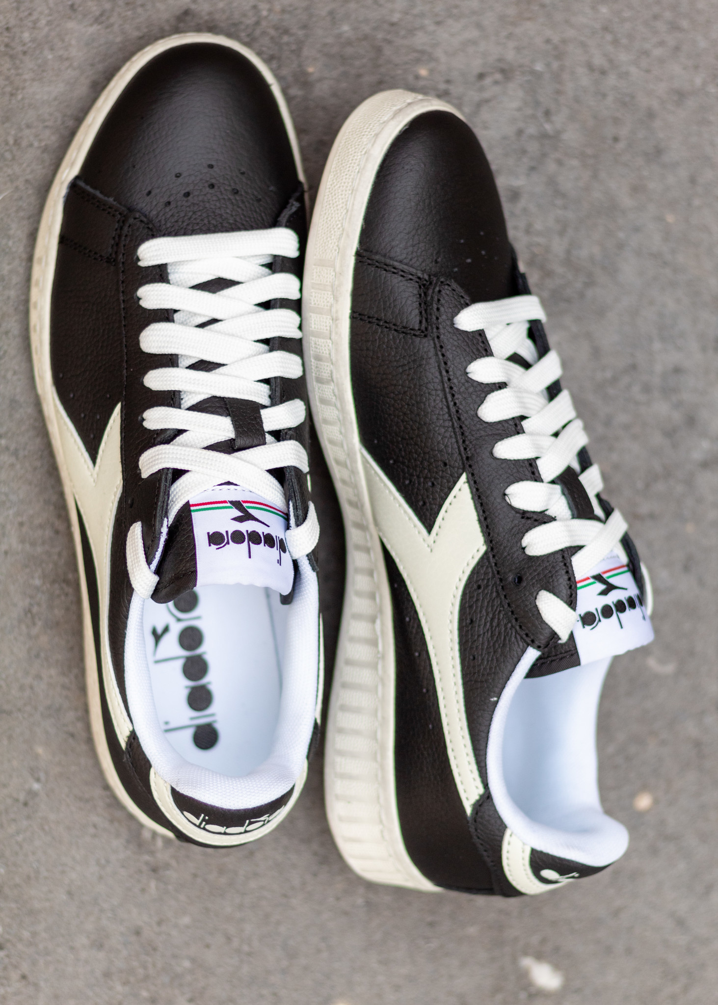 DIADORA GAME L LOW WAXED Black/ White