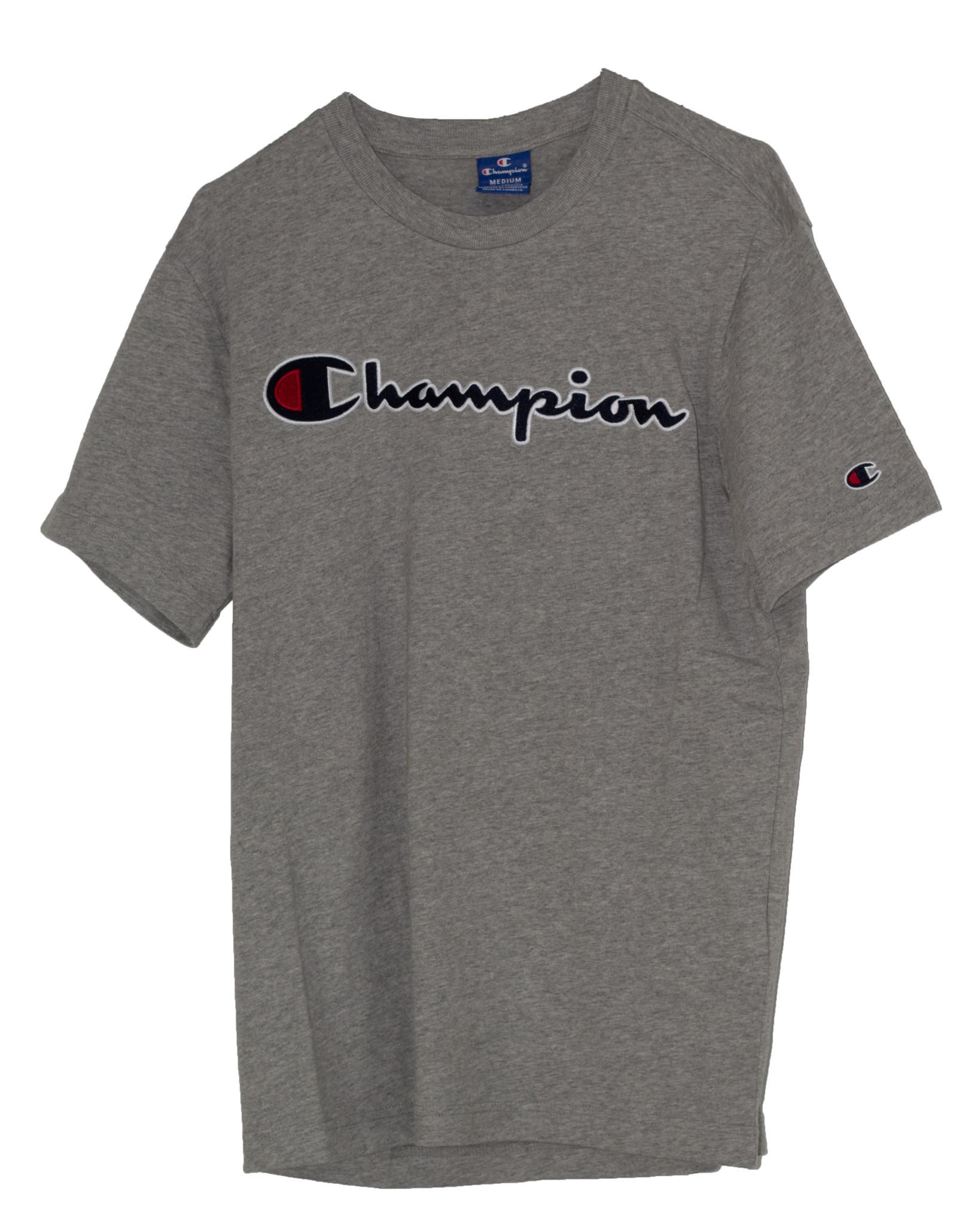 CHAMPION CREWNECK T-SHIRT Grey